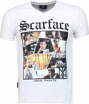 Local Fanatic Camisetas - Scarface TM Camisetas Personalizadas - Blanco