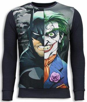 Local Fanatic Sudaderas - Bad Joker Sudaderas hombre - Gris Oscuro