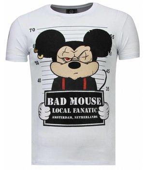 Local Fanatic Camisetas - State Prison Rhinestone Camisetas Personalizadas - Blanco