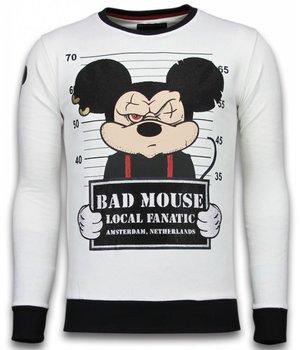 Local Fanatic Sudaderas - Bad Mouse Sudaderas hombre - Blanco