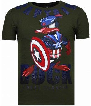 Local Fanatic Camisetas - Captain Duck - Rhinestone Camisetas - Verde