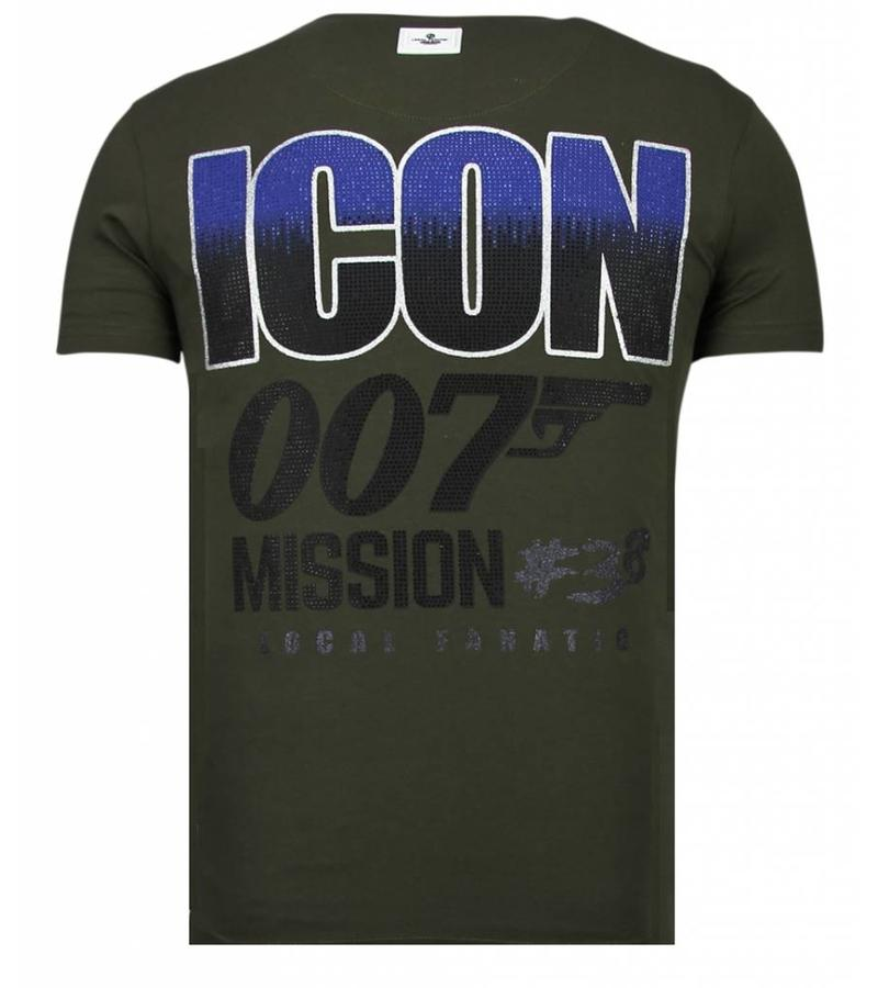 Local Fanatic Camisetas - Like A Boss - Rhinestone Camisetas -  Verde
