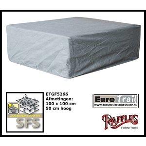 Hoes loungetafel, 100 x 100 H: 50 cm