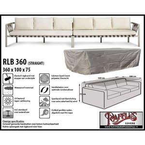 Raffles Covers Loungebank hoes, 360 x 100 H: 75 cm, taupe