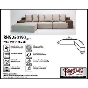 Raffles Covers Hoes voor hoekbank links, 250 x 190 x 100, H: 70 cm, taupe