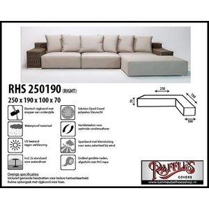 Raffles Covers Hoes voor L-vorm bank rechts , 250 x 190 x 100, H: 70 cm, taupe