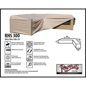 Raffles Covers Hoekbank hoes, 300 x 300 x 100, H: 70 cm, taupe