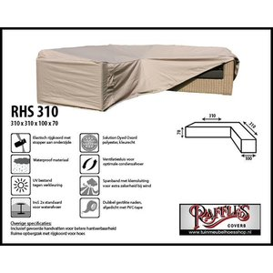 Raffles Covers Hoes hoekbank, 310 x 310 x 100, H: 70 cm, taupe