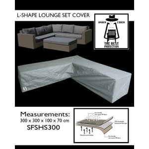 Lounge hoekbankhoes, 300 x 300 x 100 H: 70 cm