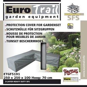 Eurotrail hoes voor hoekset, 250 x 250 H: 70 cm