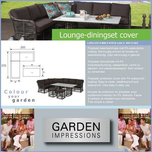 Garden Impressions Sale Loungesethoes dining 293 x 233 H: 70 cm