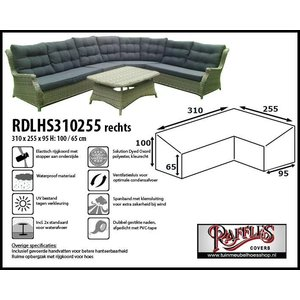 Raffles Covers Dining lounge hoes, 310 x 255 x 95, H: 100 / 65 cm, taupe