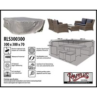 Raffles Covers Loungesethoes, 300 x 300 H: 70 cm, taupe