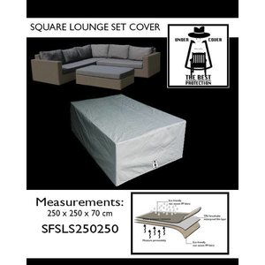 Under Cover Loungeset hoes, 250 x 250 H: 70 cm.