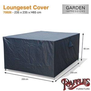 Hoes loungeset, 235 x 235 H: 65 cm