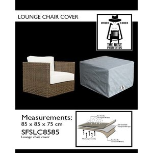 Under Cover Loungestoelhoes, 85 x 85 H: 75 cm.