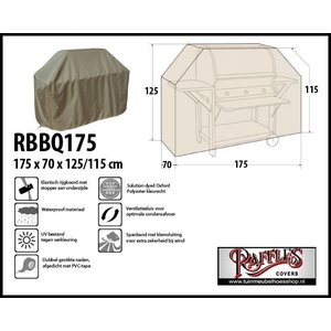 Raffles Covers Buitenkeuken hoes, 175 x 70 H: 125 / 115 cm, taupe