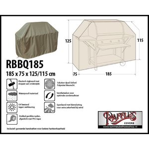 Raffles Covers BBQ hoes, 185 x 75 H: 125 / 115 cm, taupe