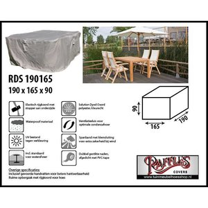 Raffles Covers Hoes voor tuinset, 190 x 165 H: 90 cm, taupe