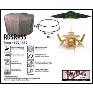 Raffles Covers Ronde tuinsethoes, D: 155cm & H: 85 cm, taupe