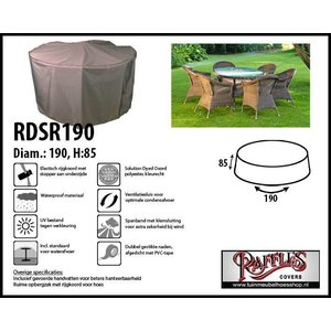 Raffles Covers Tuinsethoes rond, D: 190 cm & H: 85 cm, taupe