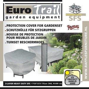 Hoes voor ronde tuinset, D: 260 x 100 cm
