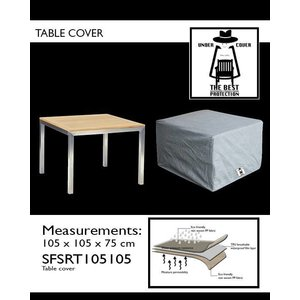Beschermhoes tafel, 105 x 105 H: 75 cm.