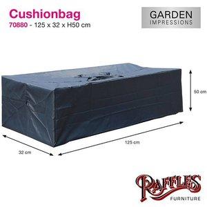 Tas voor tuinkussens, 125 x 50 H: 32 cm