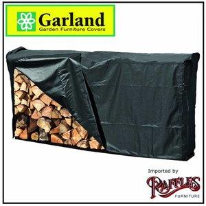Garland Rek voor openhaardhout, incl. hoes 204 x 35 H: 96cm