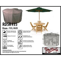 Ronde tuinsethoes, D: 135cm & H: 85 cm, taupe