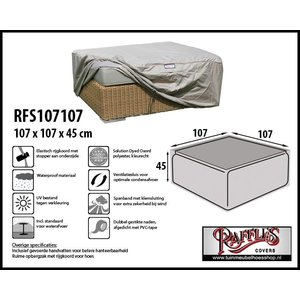 Raffles Covers Hockerhoes, 107 x 107 H: 45 cm, taupe