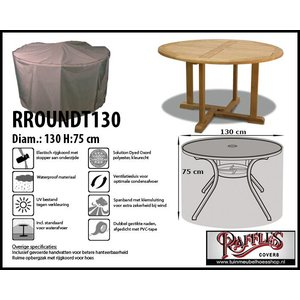 Raffles Covers Tuintafelhoes rond, D: 130cm & H: 75 cm, taupe