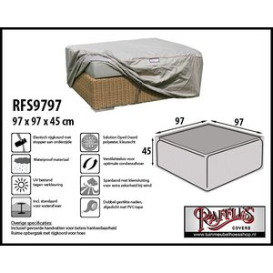Raffles Covers Hoes voor lounge tafel / hocker, 97 x 97 H: 45 cm, taupe