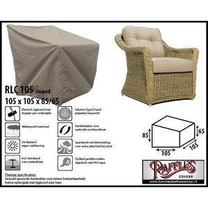 Afdekhoes loungestoel, 105 x 105 H: 85 /65 cm, taupe