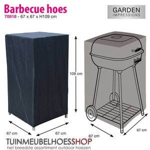 Garden Impressions Afdekhoes barbecue, 67 x 67 H: 109 cm