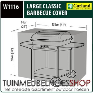 W1116, Buitenhoes barbecue, 155x61 H: 97 cm