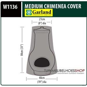 W1136, Afdekhoes terrasverwarmer, D: 48/21 cm & H: 84 cm