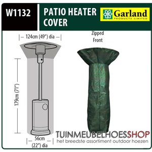 W1132, Hoes terrasverwarming, D: 124/56 cm & H: 213 cm