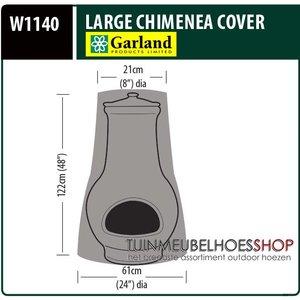 Beschermhoes terrasverwarmer, D: 61/21 cm & H: 122 cm