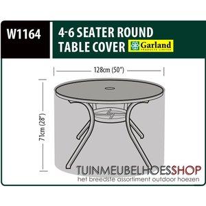 W1164, Beschermhoes ronde tuintafel, D: 128 cm & H: 71 cm
