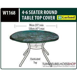 Hoes tuintafel rond, D: 90 - 110 cm