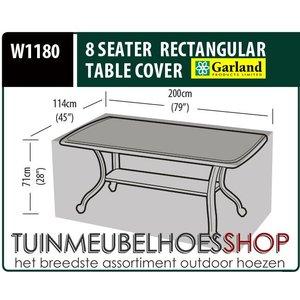 W1180, Hoes tuintafel, 200x114 H: 71 cm