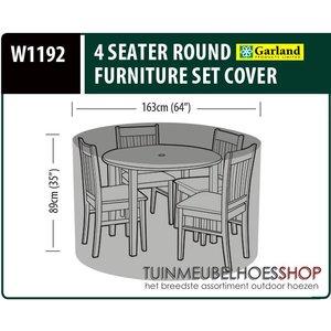 W1192, Hoes ronde tuinset, D: 163 cm & H: 89 cm
