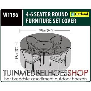 W1196, Afdekhoes ronde tuinset, D: 188 cm & H: 89 cm
