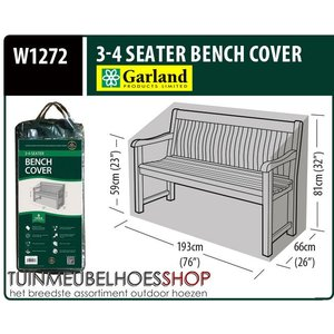 W1272, Hoes tuin bank, 193x66 H: 81 cm