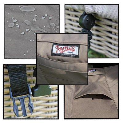 Raffles Covers Ronde beschermhoes voor tuinset D: 295 cm & H: 85 cm