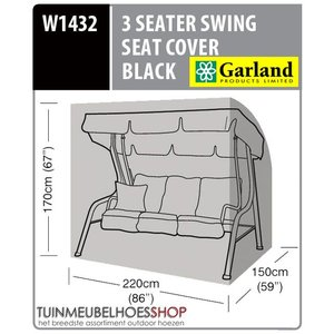 W1432, Tuinmeubelhoes schommelbank, 220x150 H: 170 cm