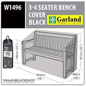 W1496 Tuinbank beschermhoes, 193x66 H: 81 cm