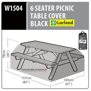 Tuintafel hoes picnic tafel, 157 x 145 H: 76 cm