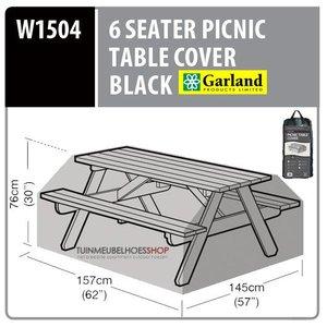 W1504 Tuintafel hoes picnic tafel , 157x145 H: 76 cm